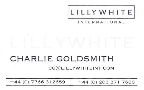 Charlie Goldsmith's business card
